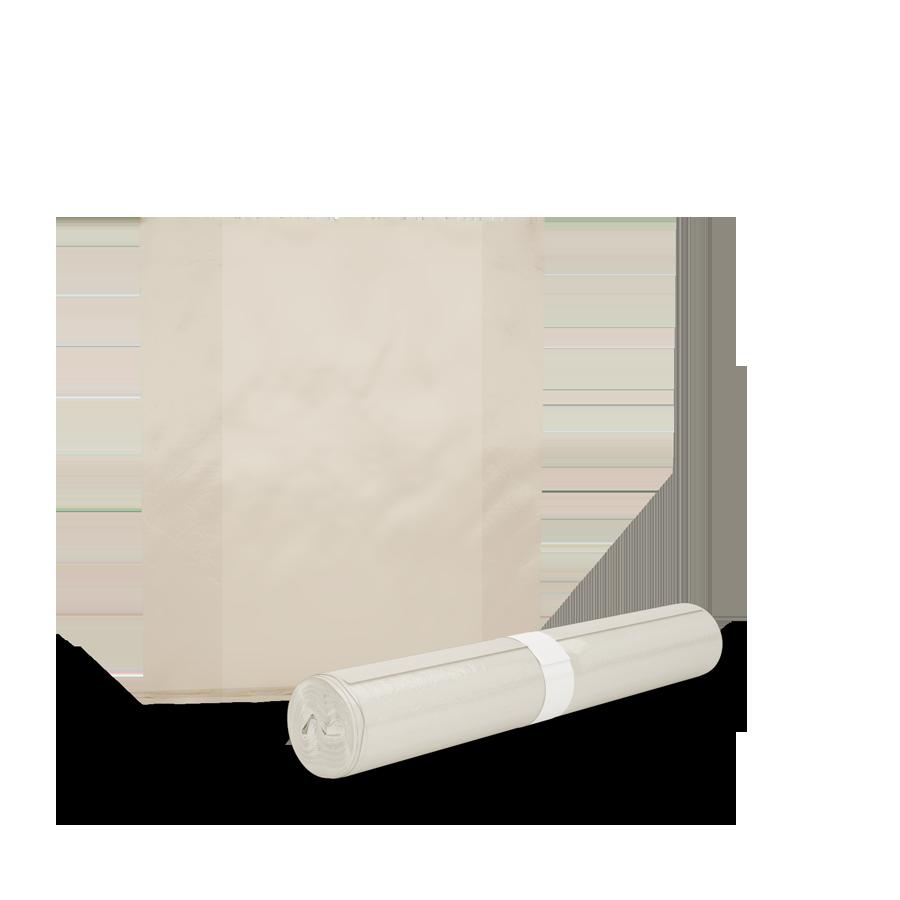 Säcke mit Seitenfalte, weiß